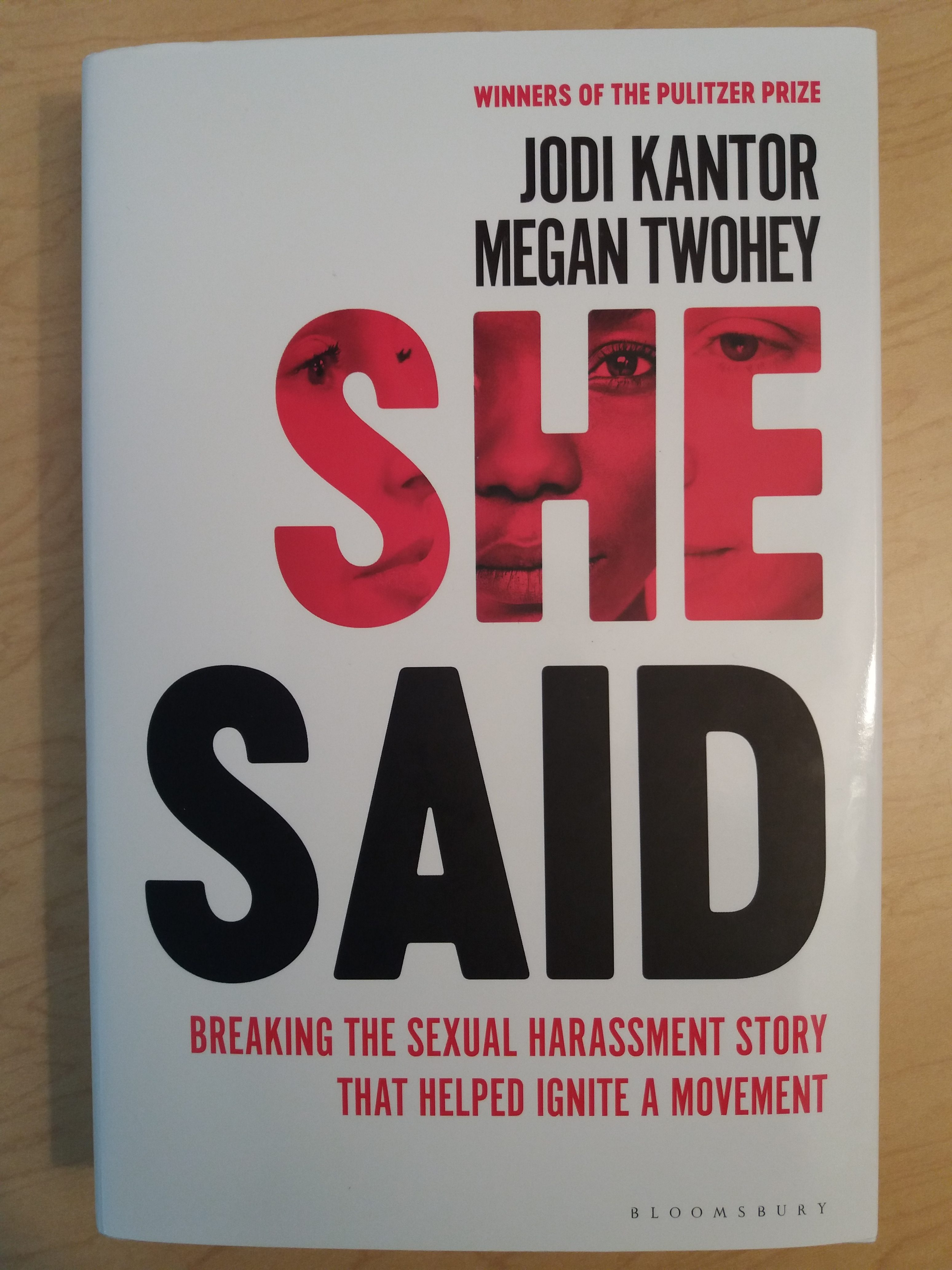 "Picture of the book, ""She Said"". This post discusses stories of sexual abuse told in public and private."